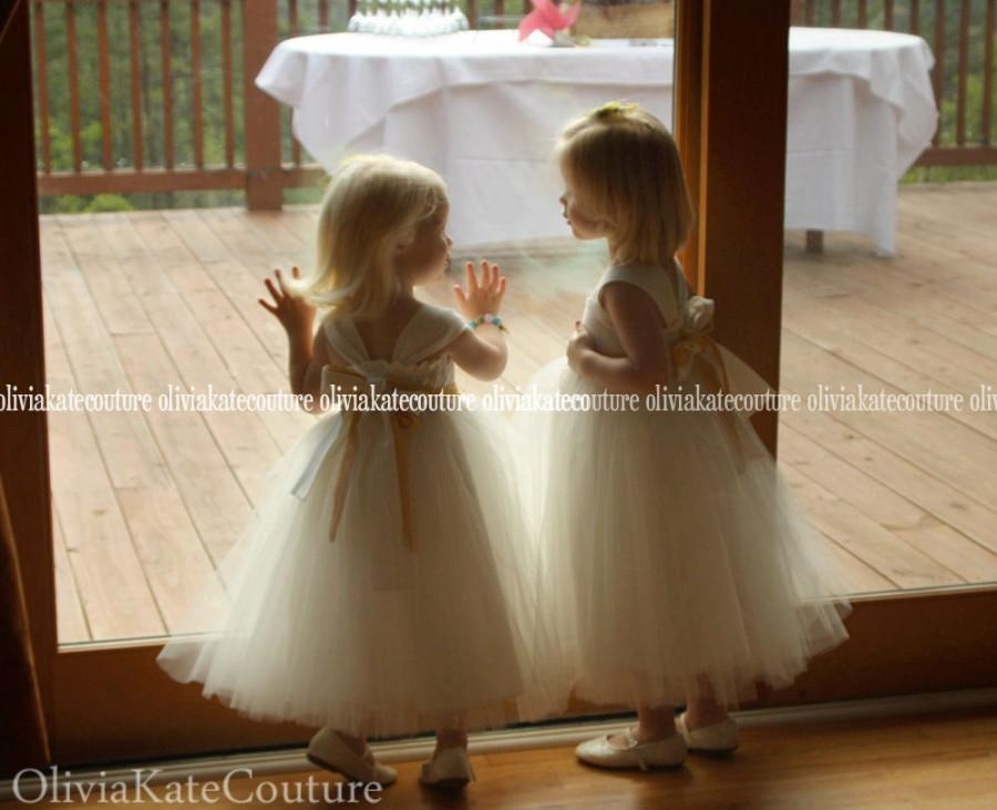 Wedding - Organic Cotton Baby . Flower Girl Dresses