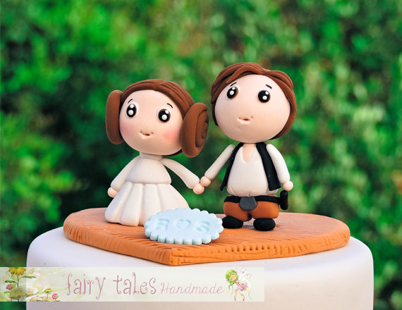 Star wars wedding cake topper with stand and free shipping star wars wedding cake topper with stand and free shipping princess leia and han solo junglespirit Gallery