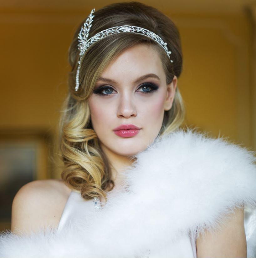 Gatsby Headpiece Pearl Rhinestone Hair Accessory Great Gatsby