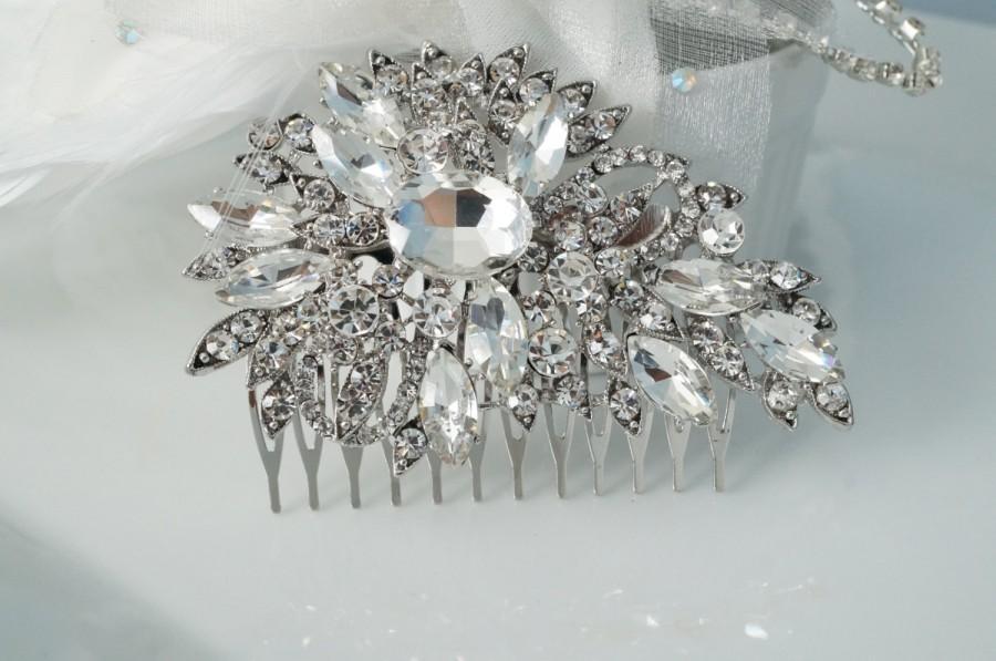 Свадьба - SALE-Wedding Hair Comb, Crystal Bridal Hair Comb, Bridal Hair Accessories, Wedding Hair, Crystal Hair comb, Vintage Comb
