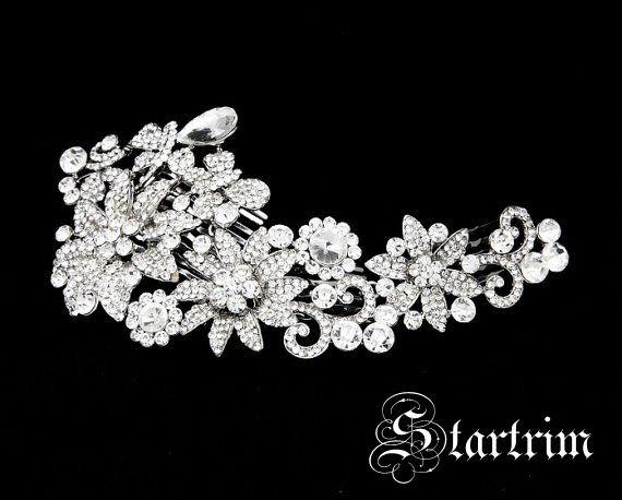 Wedding - SWARVOSKI wedding bridal crystal head piece