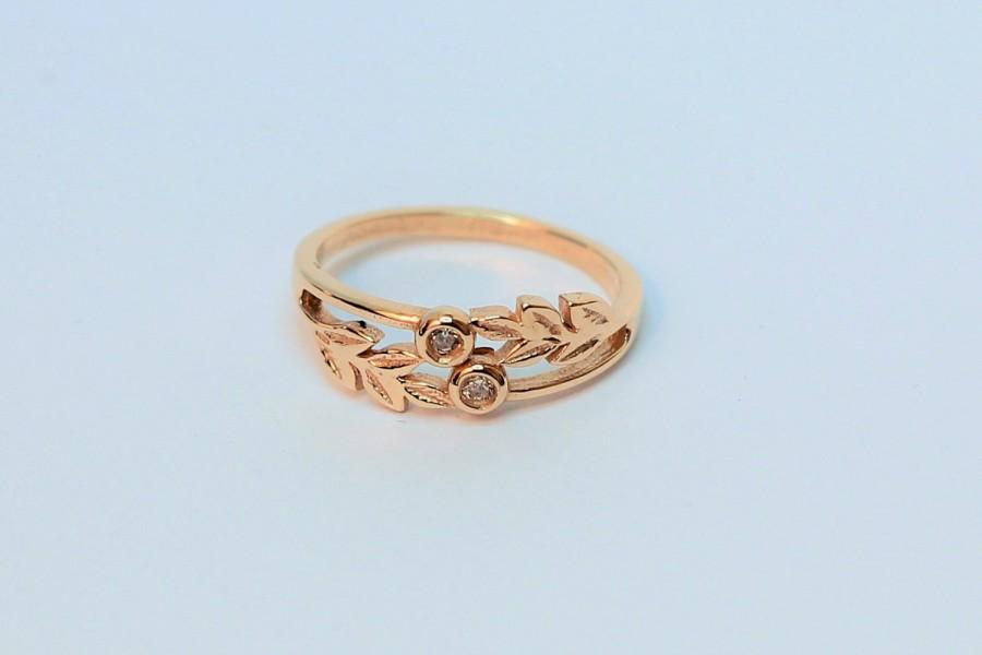 Wedding - Vintage Style Gold Ring