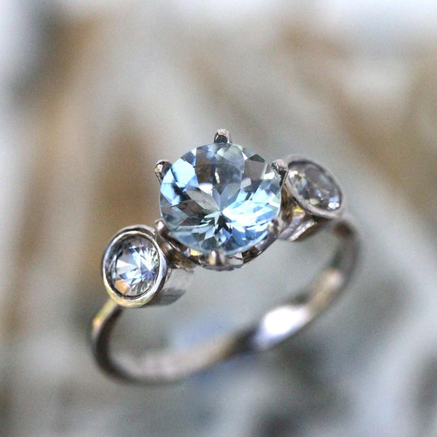 ring aquamarine babyanything montague lady anything baby product gold white sapphire