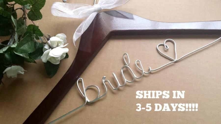 Huge sale wedding hanger bride hanger bridesmaid hanger for Personalized wire wedding dress hanger