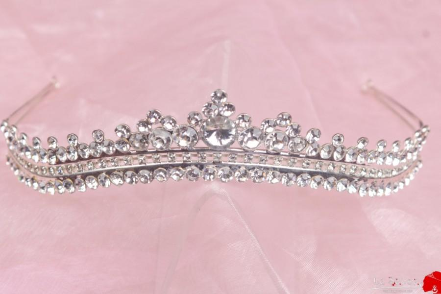 Свадьба - Unique handmade tiaras for wedding ,princess tiara crown ,crystal tiara hand made for order inlaid with SWAROVSKI  Crystals and rhinestones,