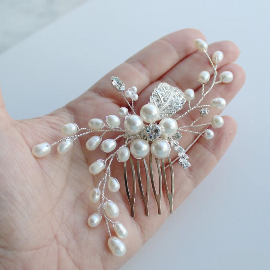 Hochzeit - Pearl Bridal Hair Comb, RACHEL  Hair Comb, Bridal hairpiece, Wedding hair accessories, Bridal Headpieces, Bridal Hair Accessories