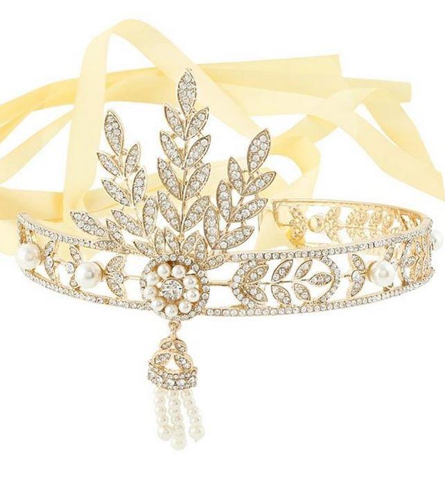 Gatsby Headpiece - Pearl Rhinestone Hair Accessory 069384ef725
