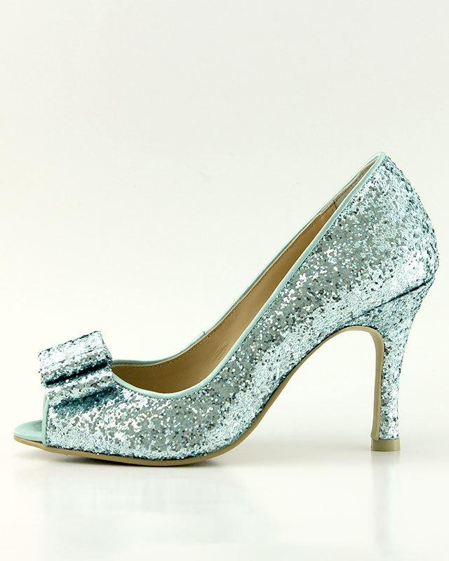 Свадьба - Something Blue Wedding Shoes, Blue Glitter Wedding Shoes, Light Blue Wedding Shoes, Robin Egg Blue Wedding Shoes (PU Faux Leather Lining)