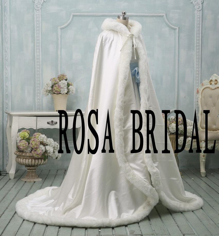 Ivory Bridal Cloak Ivory Wedding Coat Bridal Cape Wedding Winter