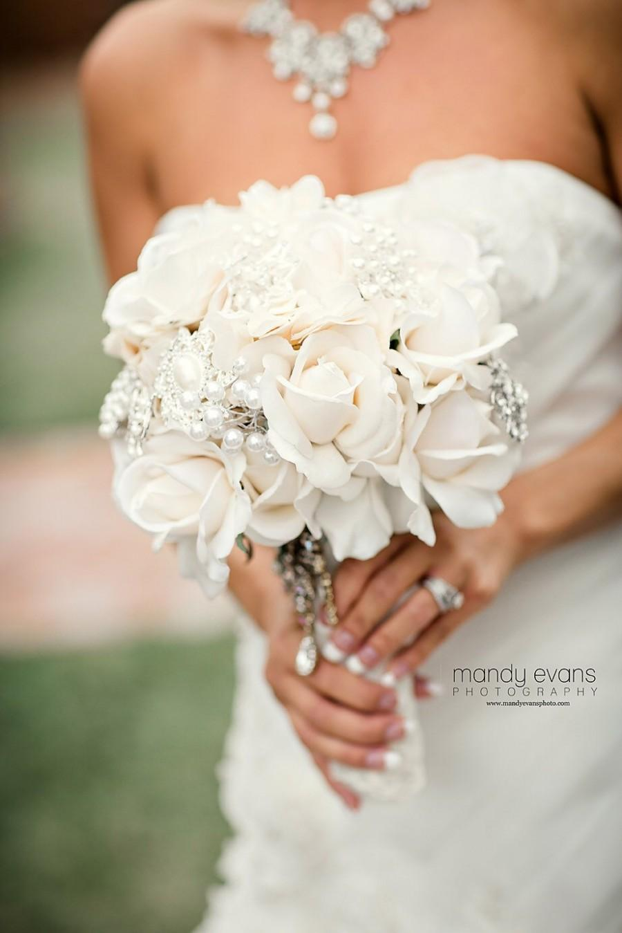 Ivory True Touch Rose Bouquet