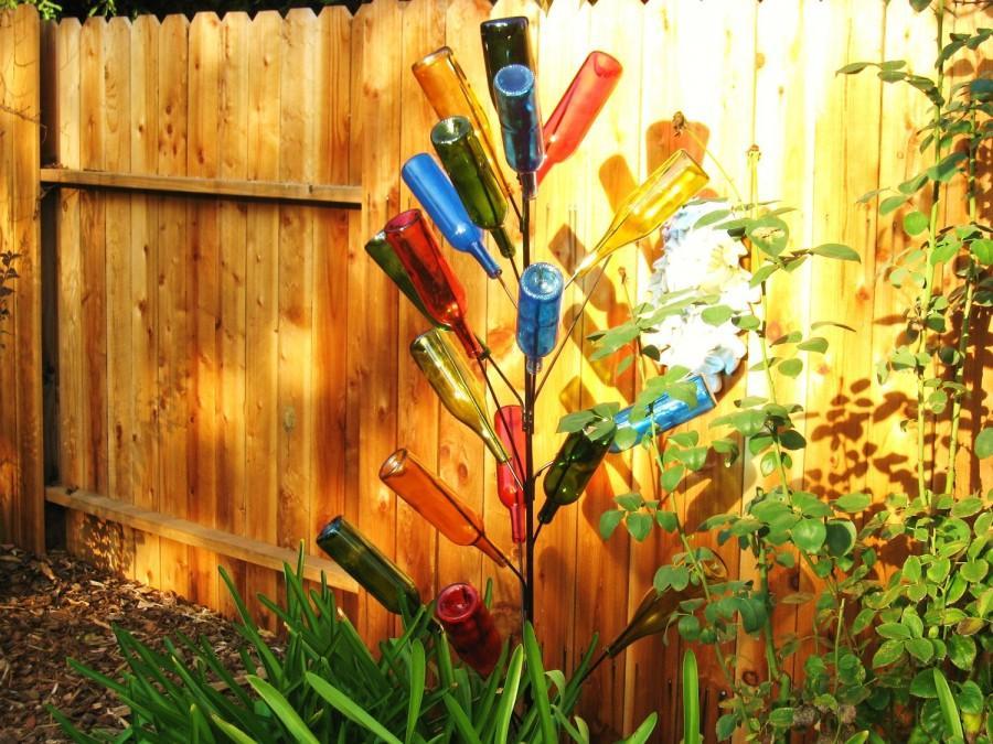 زفاف - BOTTLE tree 6 ft. 20 branch yard art