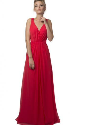 Hochzeit - Buy Australia 2016 Red A-line Halter Neckline Pleated Chiffon Floor Length Evening Dress/ Prom Dresses 4138 at AU$171.67 - Dress4Australia.com.au