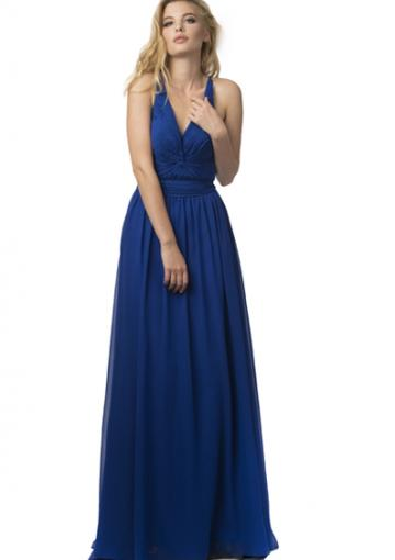 Buy australia 2016 royal blue a line v neck neckline for V neck wedding dresses australia