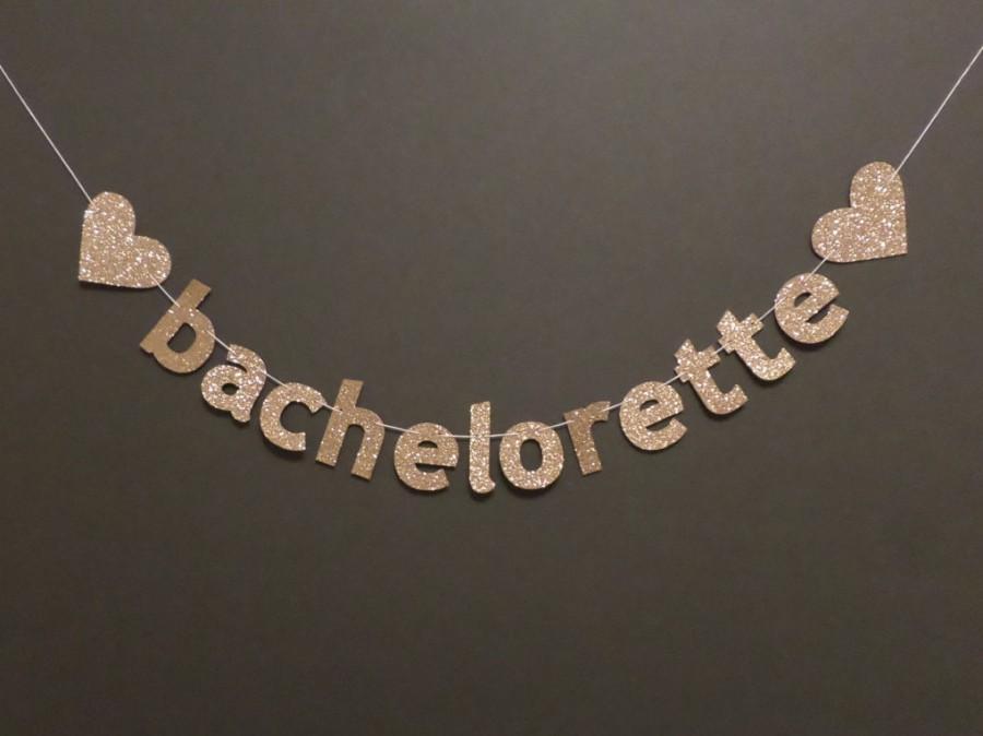 Mariage - BACHELORETTE PARTY BANNER - glitter heart banner - wedding, bachelorette, engagement, bridal shower, photo booth, prop