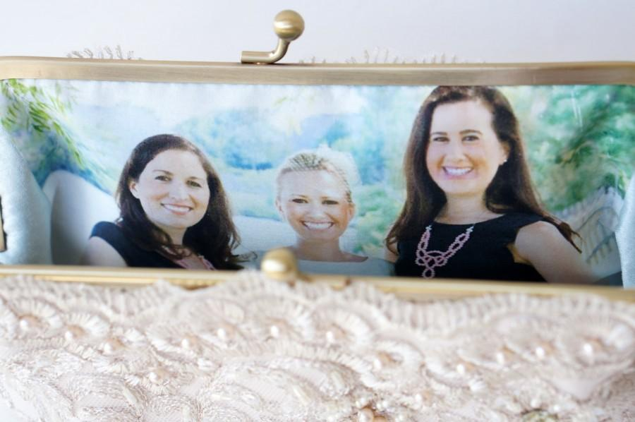 Mariage - Personalize your Bridal Clutch Purse, Bridesmaid gifts with a Photo Lining - For Personalization only
