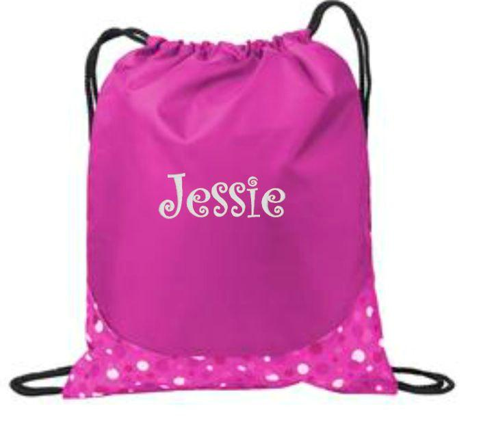 Personalized Bag, Drawstring Bag, Cinch Backpack, Drawstring ...