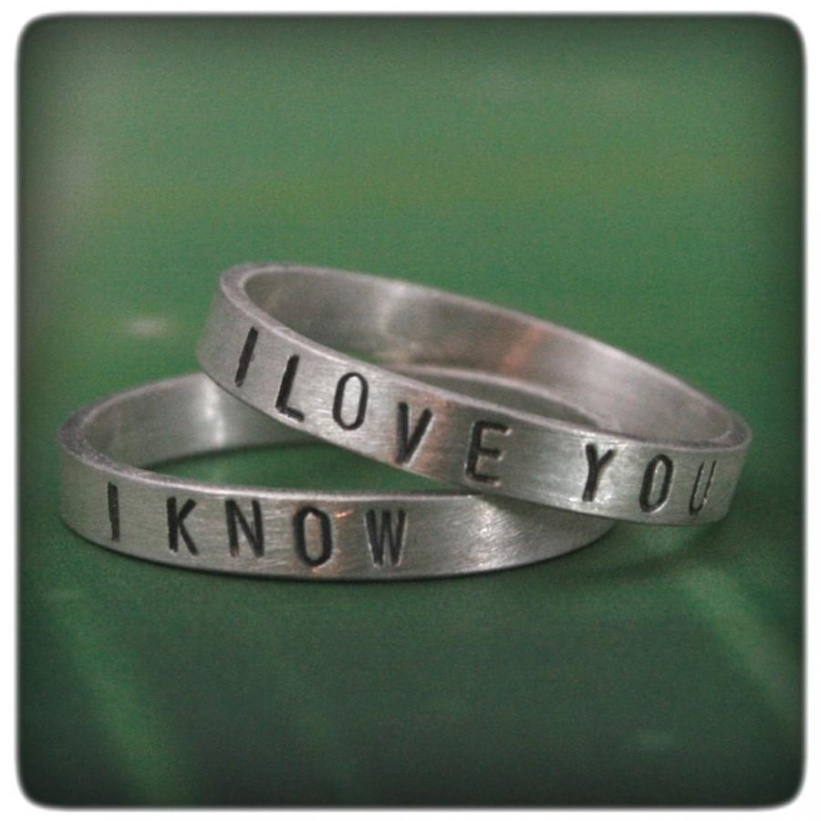 I love you i know star wars inspired wedding bands for Star wars wedding rings