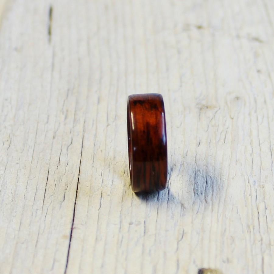 Свадьба - Mahogany wood ring unisex wood ring