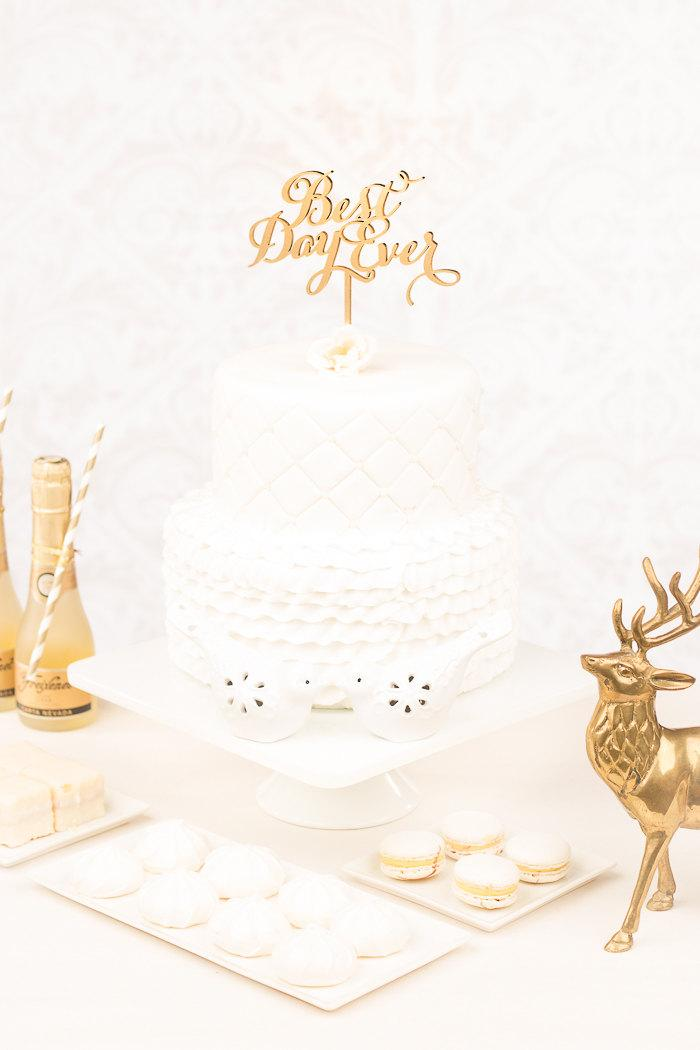 Hochzeit - Best Day Ever Cake Topper- Soirée Collection