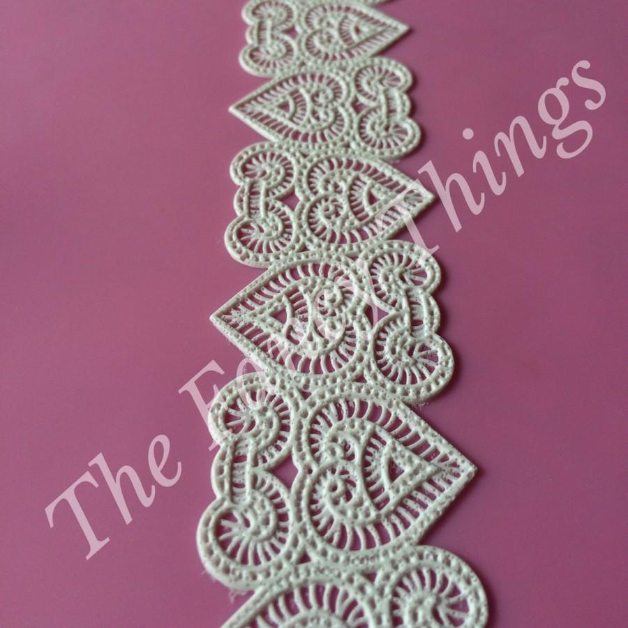 Hochzeit - Edible Lace - Narrow 3D Renaissance Design Sugar Lace - Cake Lace