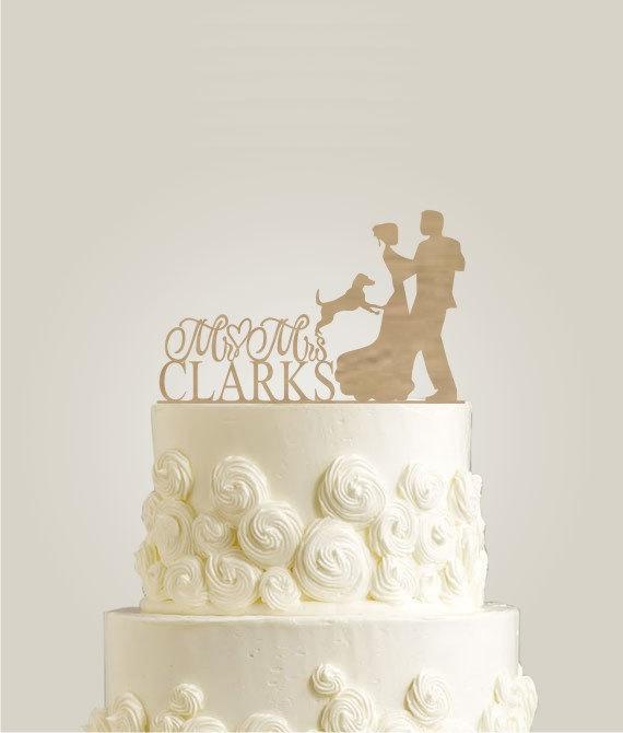 Hochzeit - Rustic Wooden Cake Topper
