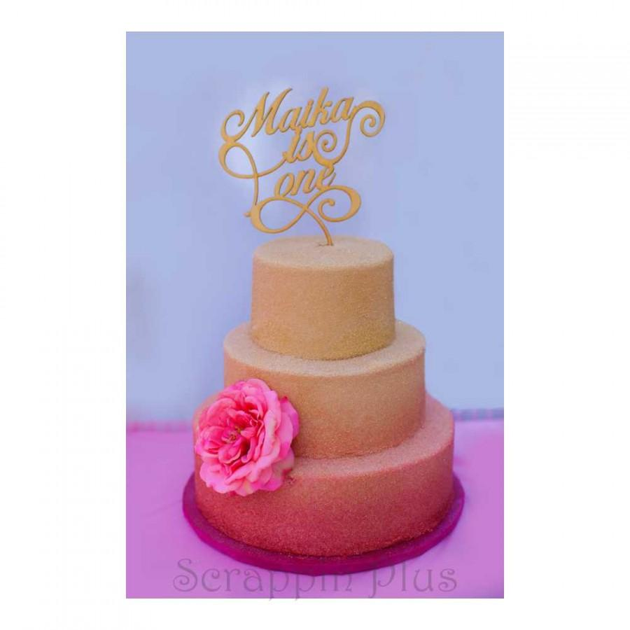 Someone Is Turning One Wooden Cake Topper Someone Is One Custom