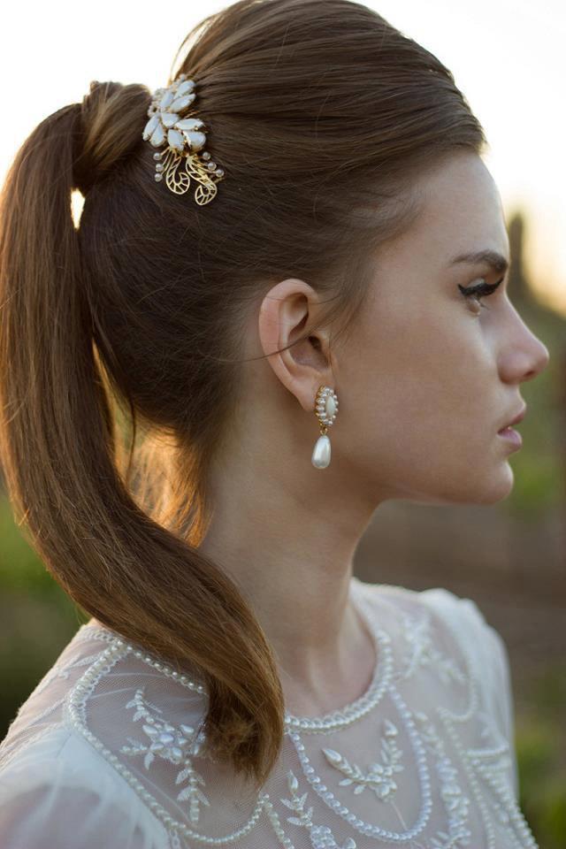 زفاف - Bridal comb bridal hair accessories , bridal hair comb, bridal hair , wedding accessories wedding jewellery bridal jewellery hair accessory