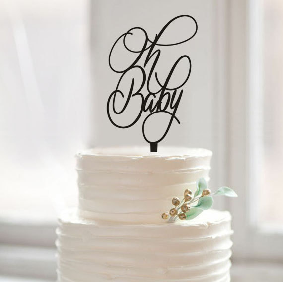 how to make oh baby cake topper