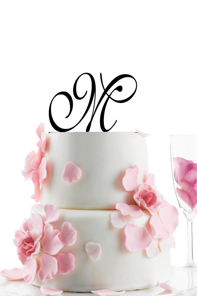 Hochzeit - Custom Wedding Cake Topper - Personalized Monogram Cake Topper -Initial -  Cake Decor -Anniversary