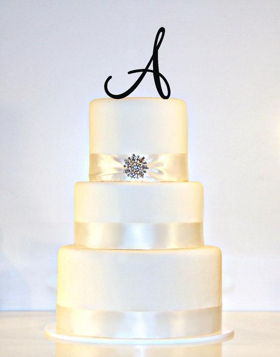 """زفاف - 4.5"""" Monogram Cake topper"""
