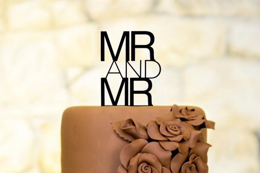 Hochzeit - Mr and Mr Cake Topper Contemporary