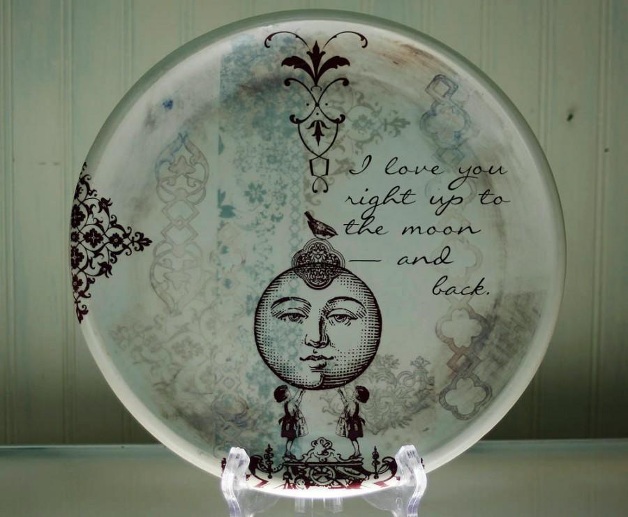 Hochzeit - Custom Dinner Plate - Personalized Plate - Platter - Heirloom Wedding Gift - NLB
