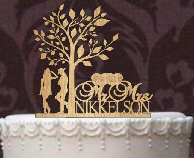 Свадьба - Deer Wedding Cake Topper - Country Wedding Cake Topper - rustic cake topper - personalized - shabby chic - cowboy cake topper - western