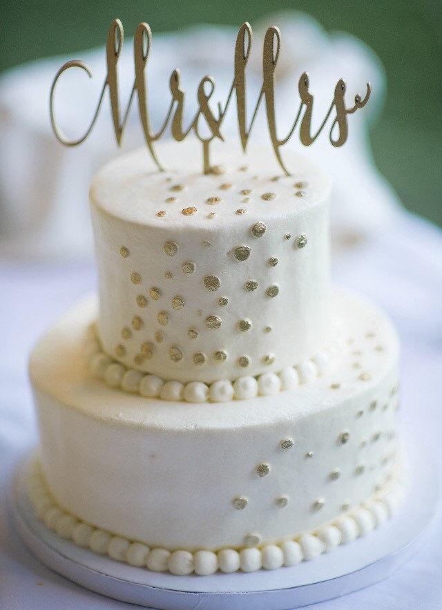 Свадьба - Mr. & Mrs. -Cake Topper for Weddings