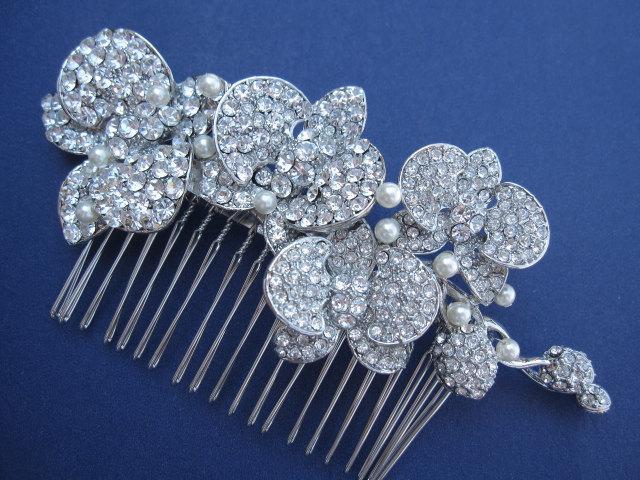 Mariage - Wedding Hair Accessories Bridal Hair Combs Wedding Hair Jewelry Bridal Hair Accessories Wedding Headpieces Wedding Hair Flower Wedding Combs