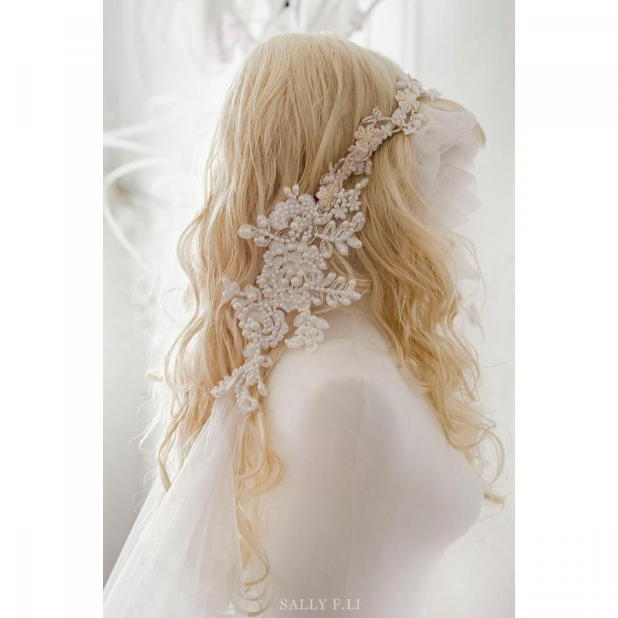 Свадьба - Mermaid Handmade Pearl long veil collection-2 /Wedding Romantic/ 1920's