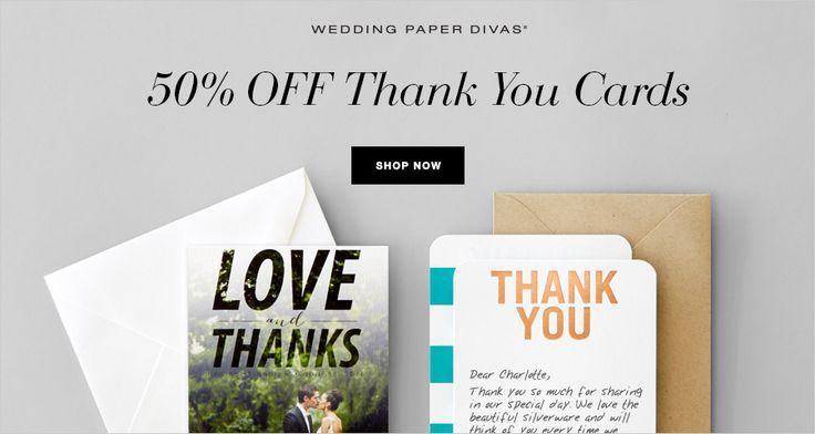 50 Off Wedding Paper Divas Thank You Cards