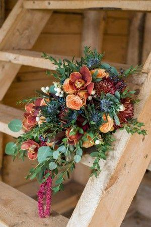 Hochzeit - Pumpkins And Rustic Glam Wedding Inspiration