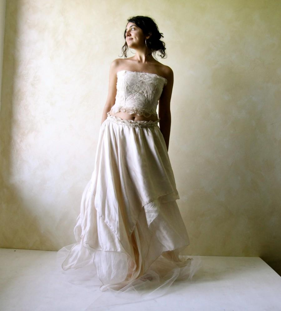 Boho wedding dress fairy wedding dress hippie wedding for Backless boho wedding dress
