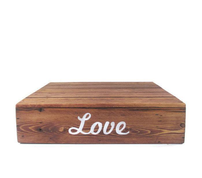 Mariage - Rustic Cake Stand - Reclaimed Wood Wedding Decor - Love - Dessert Bar