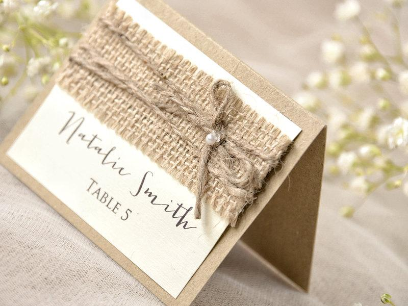 Rustic Place Cards 20 Lace Place Cards Grey Wedding