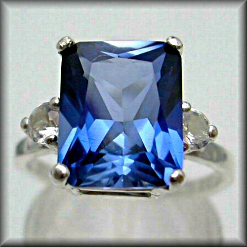 Mariage - 3 DAY SALE Blue Sapphire Engagement Ring