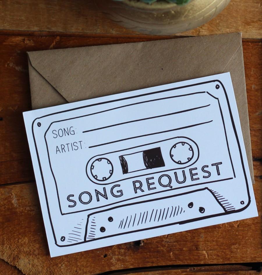 Hochzeit - Cassette Tape Song Request - Printable Digital File