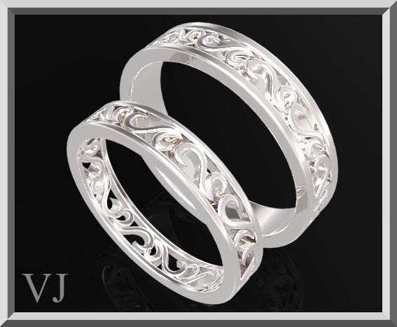Wedding - Matching Wedding Band,His And Hers Silver Matching Wedding Bands Set,Silver Matching Wedding Band,His And Her Rings,Tribal Ring Set,925