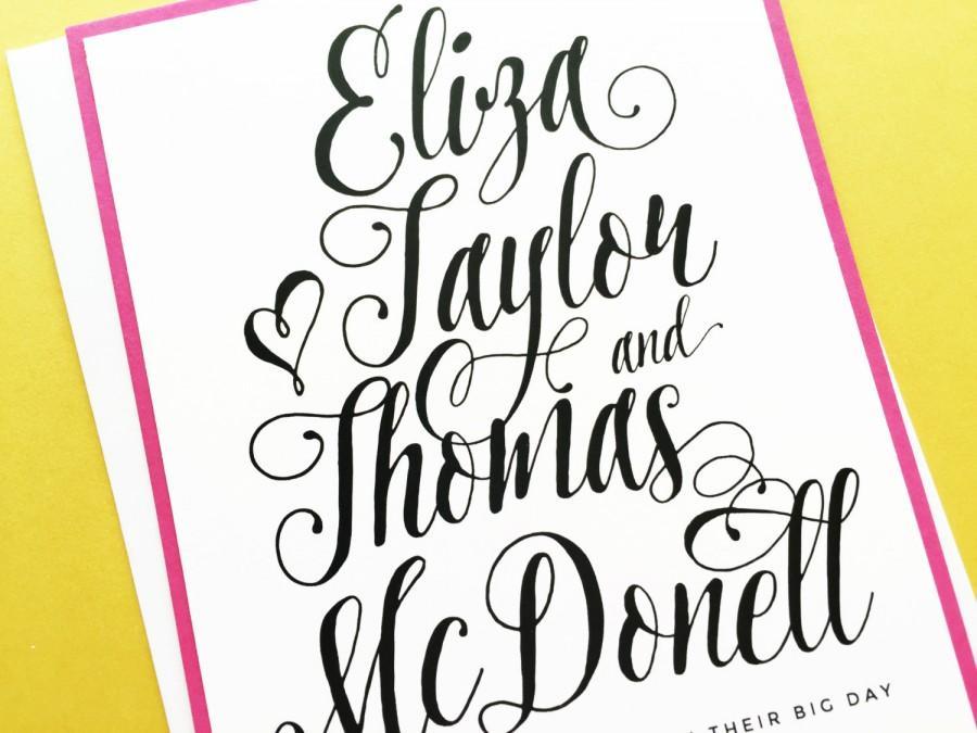 Hochzeit - Wedding Invitations Oh So Pretty Modern Custom Script Wedding Invite Suite Set