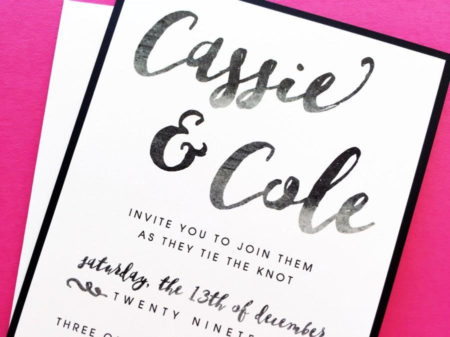 Wedding Invitation, Wedding Invite, Custom Wedding Invitations ...