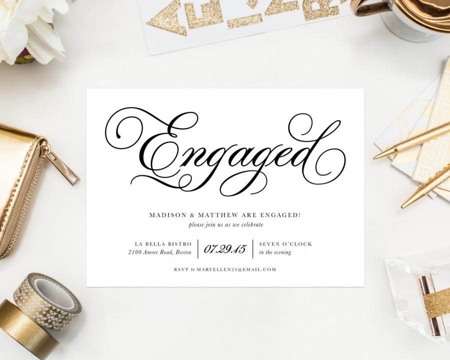 Wedding - Classic Engagement Party Invitation