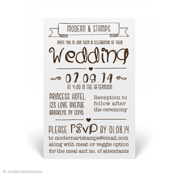 Wedding - Wedding Invitation Stamp   Wedding Stamp   Custom Wedding Stamp   Custom Stamp   Personalized Stamp   Modern Wedding Invitation   W13