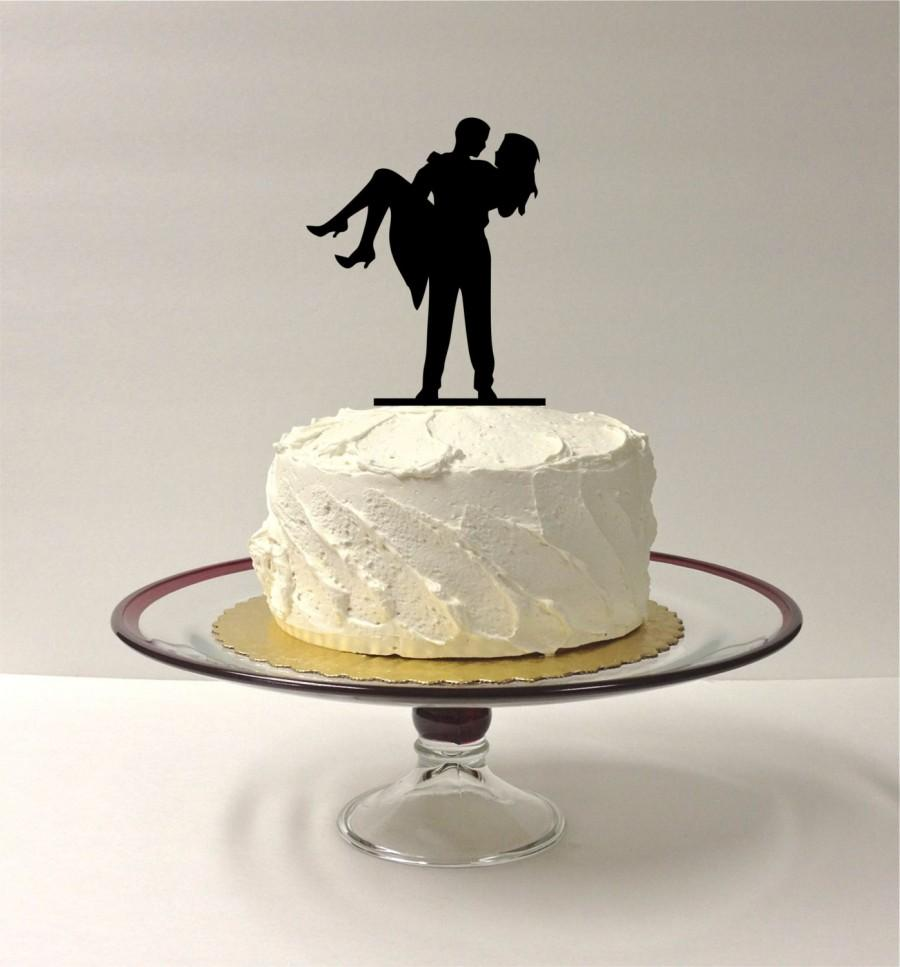 Wedding - Cute Silhouette Wedding Cake Topper Bride and Groom Dancing Silhouette Wedding Cake Topper Mr and Mrs Cake Topper
