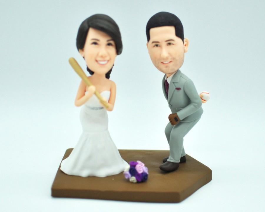 Baseball Wedding Cake TopperCustom BobbleheadsCake Topper For WeddingLook Like You Figurines
